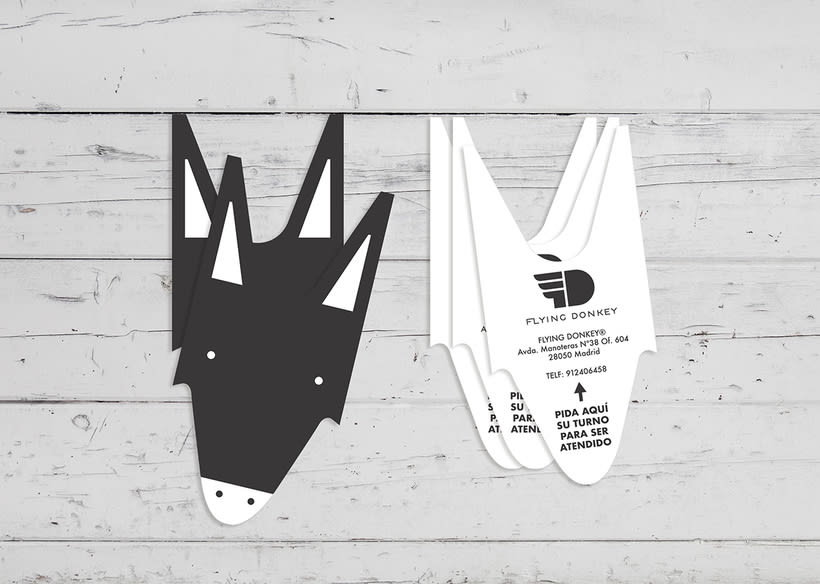 Diseño de las tarjetas de visita para la Agencia de publicidad Flying Donkey -1