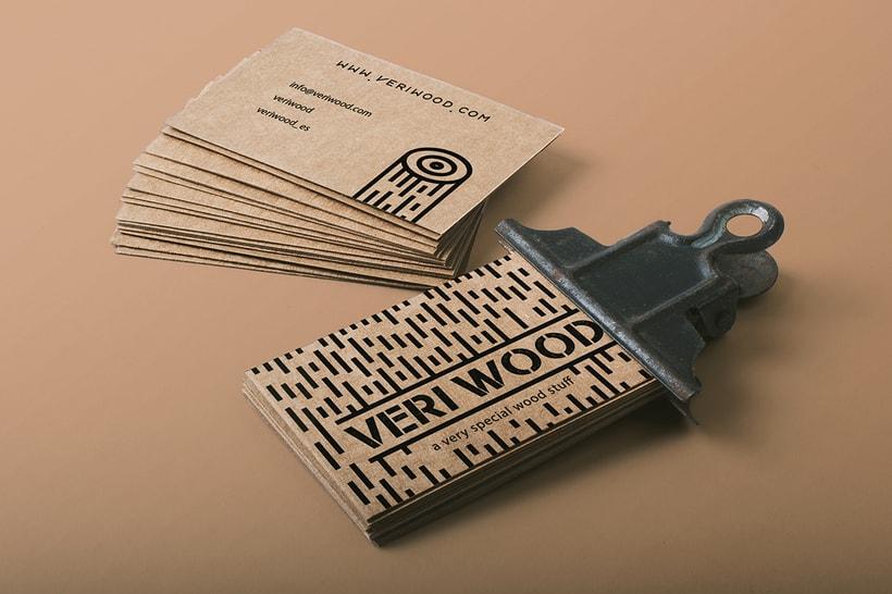 Diseño de las tarjetas de visita para la empresa VERI WOOD -1