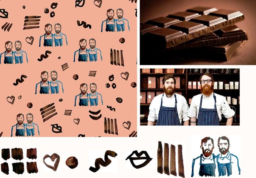 """Mi proyecto del curso """"motivos para repetir"""" chocolate Mast Brothers  1"""