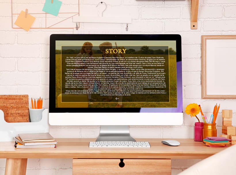 Web responsive -Moonrise Kingdom 0