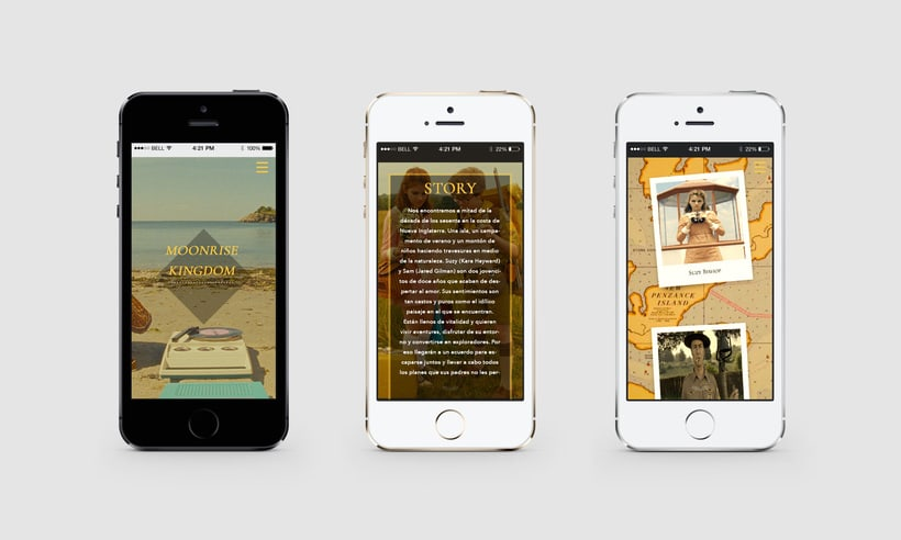Web responsive -Moonrise Kingdom 2