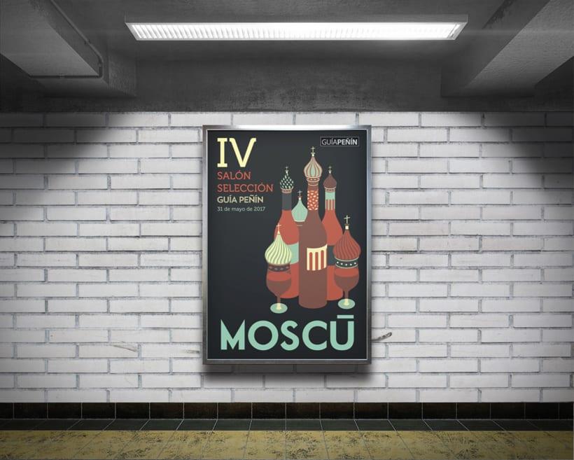 Diseño de la cartelería para una campaña de GUÍA PEÑÍN 3