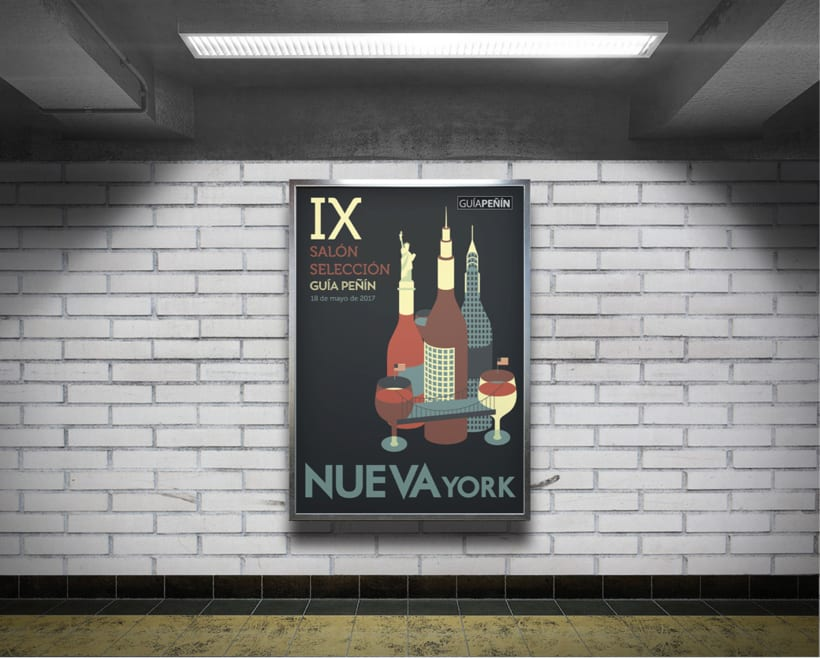 Diseño de la cartelería para una campaña de GUÍA PEÑÍN 5