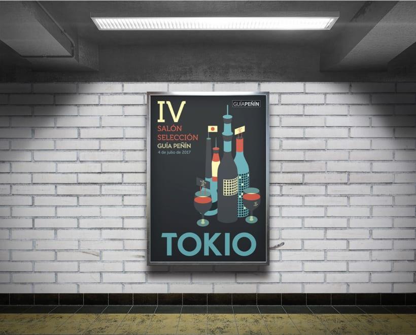Diseño de la cartelería para una campaña de GUÍA PEÑÍN 7