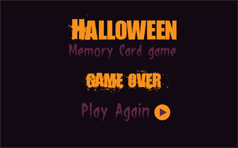Halloween Memory Card Game 0
