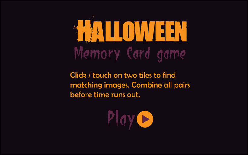 Halloween Memory Card Game 1