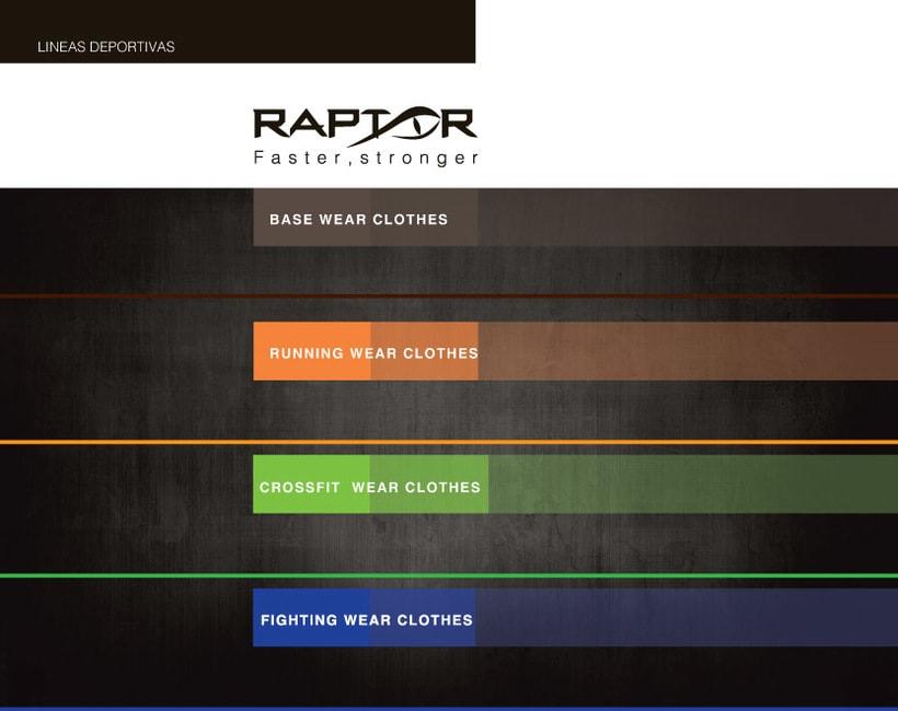 Imagen corporativa RAPTOR (Marca de ropa deportiva) 3