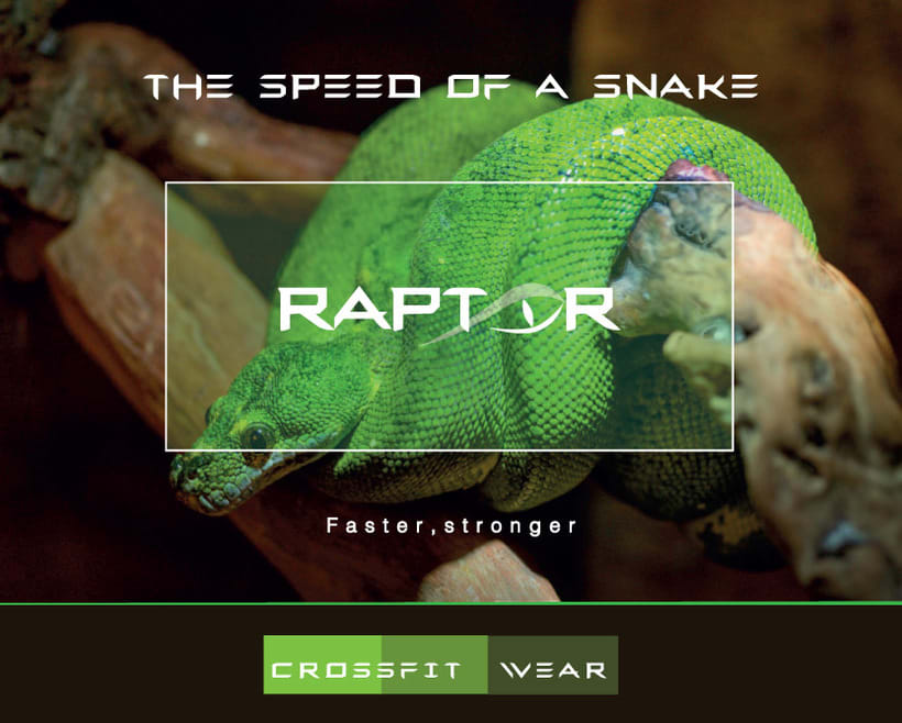 Imagen corporativa RAPTOR (Marca de ropa deportiva) 4