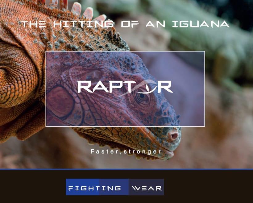 Imagen corporativa RAPTOR (Marca de ropa deportiva) 5