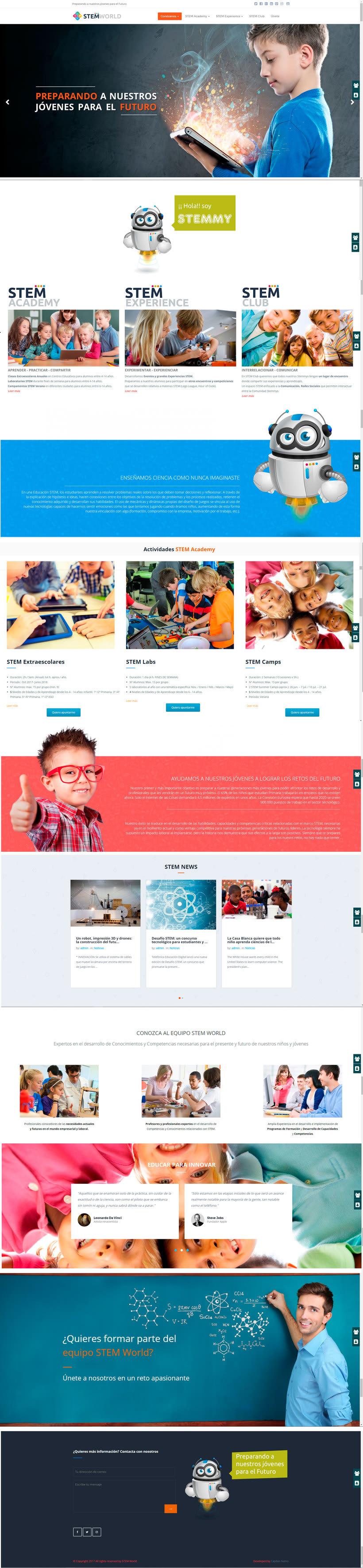 BRANDING Y DISEÑO WEB STEMWORLD.ES 1