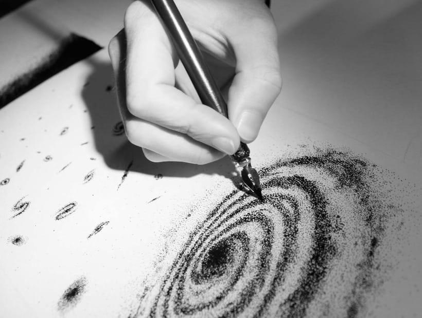 Espacio – Ilustración a tinta 2