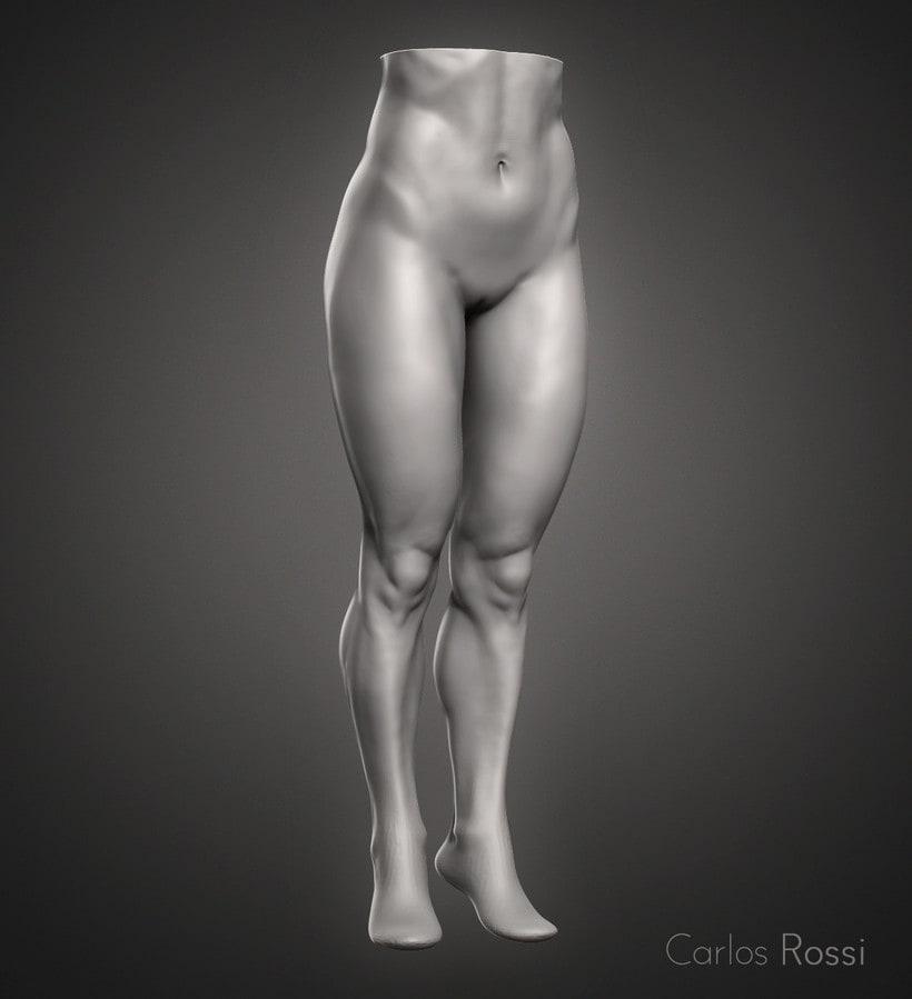 Practice leg woman -1