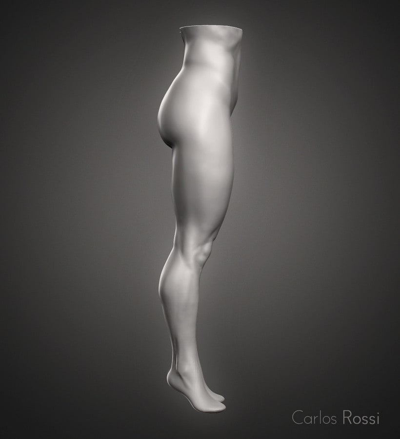 Practice leg woman 1