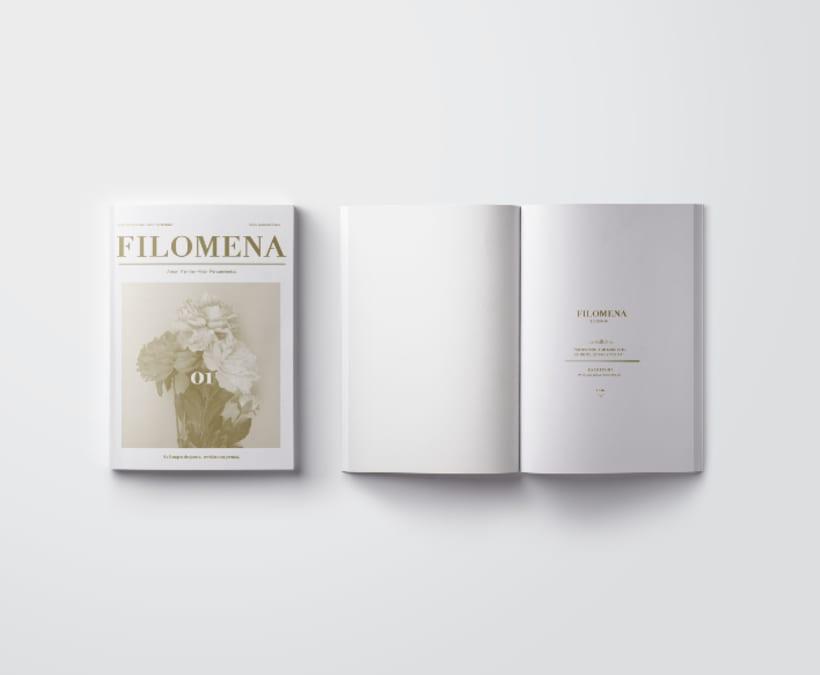 Mi Proyecto del curso: Introducción al Diseño Editorial/ Filomena -1