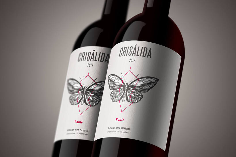 Crisálida: Naming and design of the wine-label 0