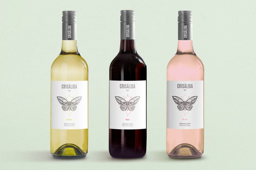 Crisálida: Naming and design of the wine-label 3