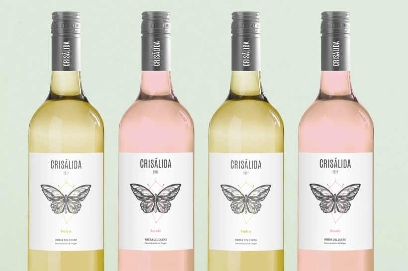 Crisálida: Naming and design of the wine-label 4
