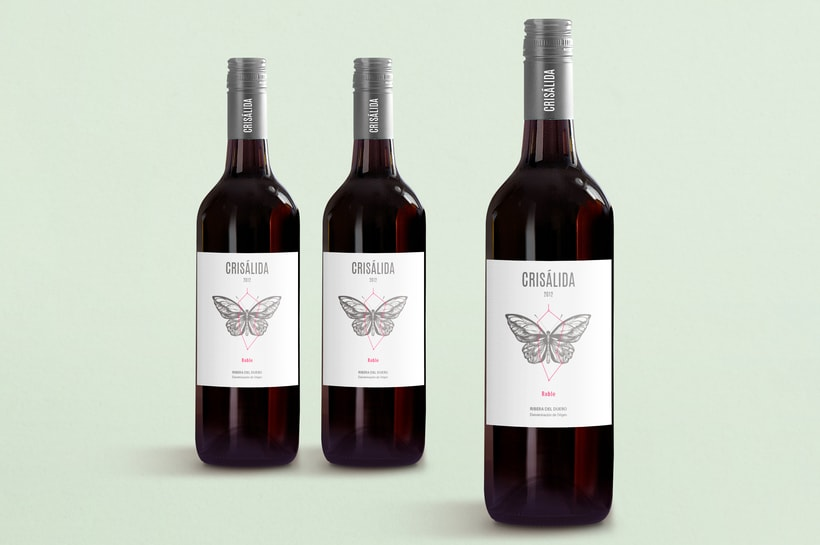 Crisálida: Naming and design of the wine-label 5