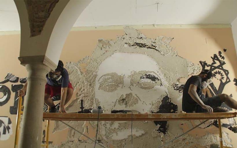 Alexadre Farto aka VHILS llega a Sevilla. Proyecto comisariado por Diwap Gallery 3