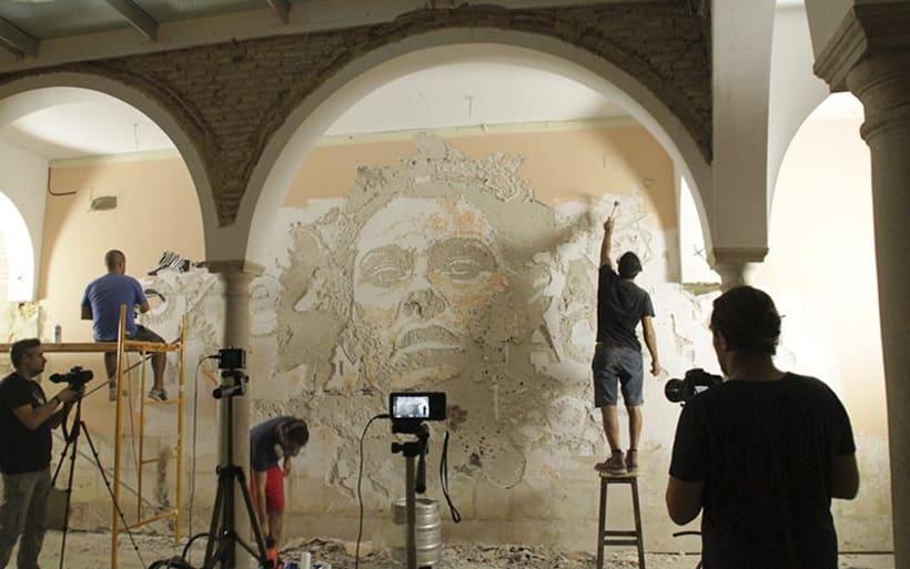 Alexadre Farto aka VHILS llega a Sevilla. Proyecto comisariado por Diwap Gallery 4