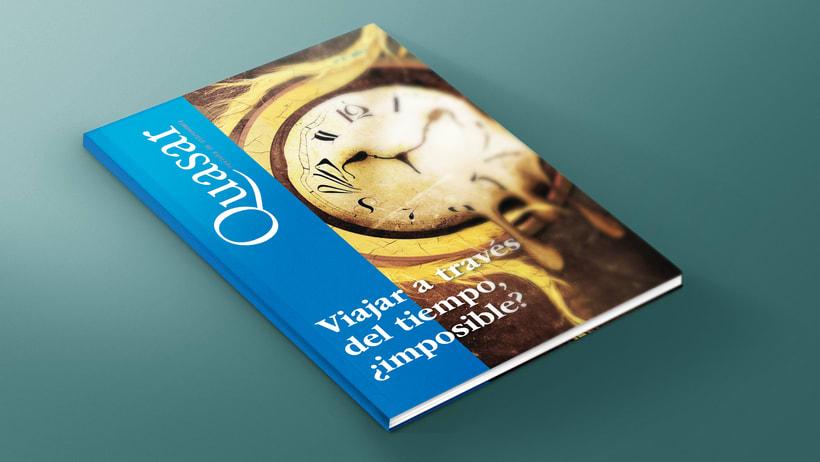 Mi Proyecto del curso: Introducción al Diseño Editorial. Quasar, revista científica -1