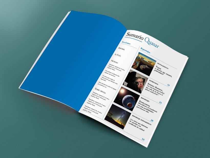Mi Proyecto del curso: Introducción al Diseño Editorial. Quasar, revista científica 0