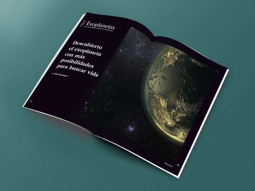 Mi Proyecto del curso: Introducción al Diseño Editorial. Quasar, revista científica 3