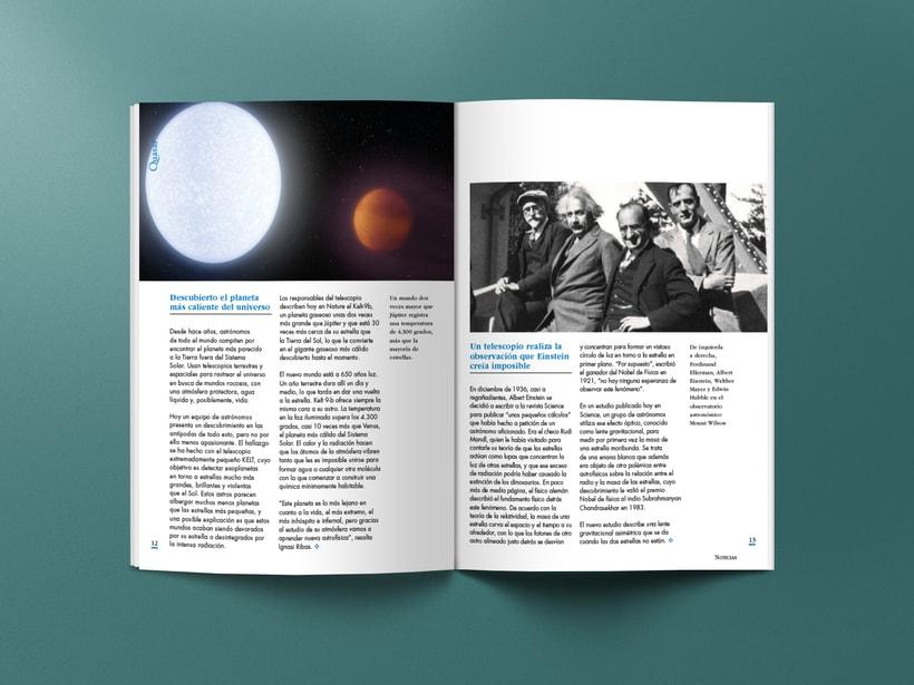 Mi Proyecto del curso: Introducción al Diseño Editorial. Quasar, revista científica 4