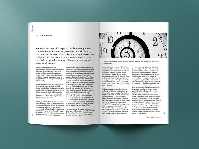Mi Proyecto del curso: Introducción al Diseño Editorial. Quasar, revista científica 6
