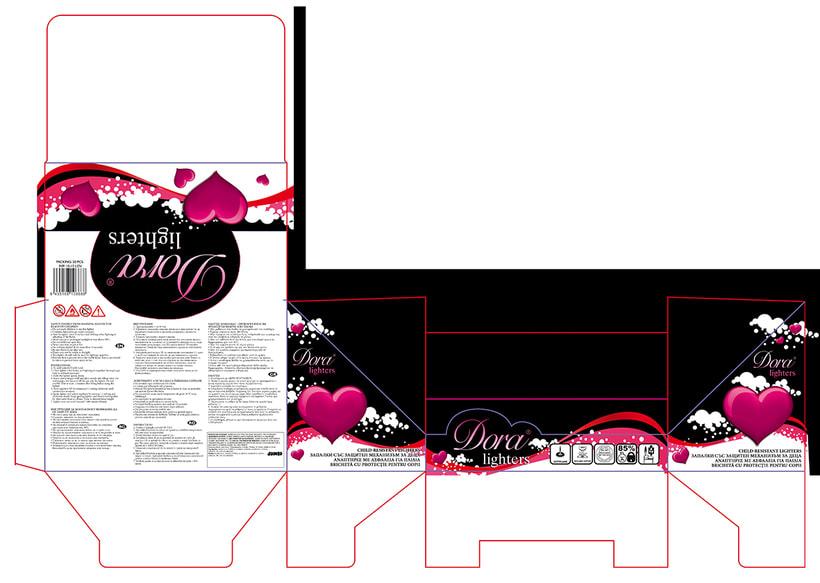 Packaging para caja de mecheros -1