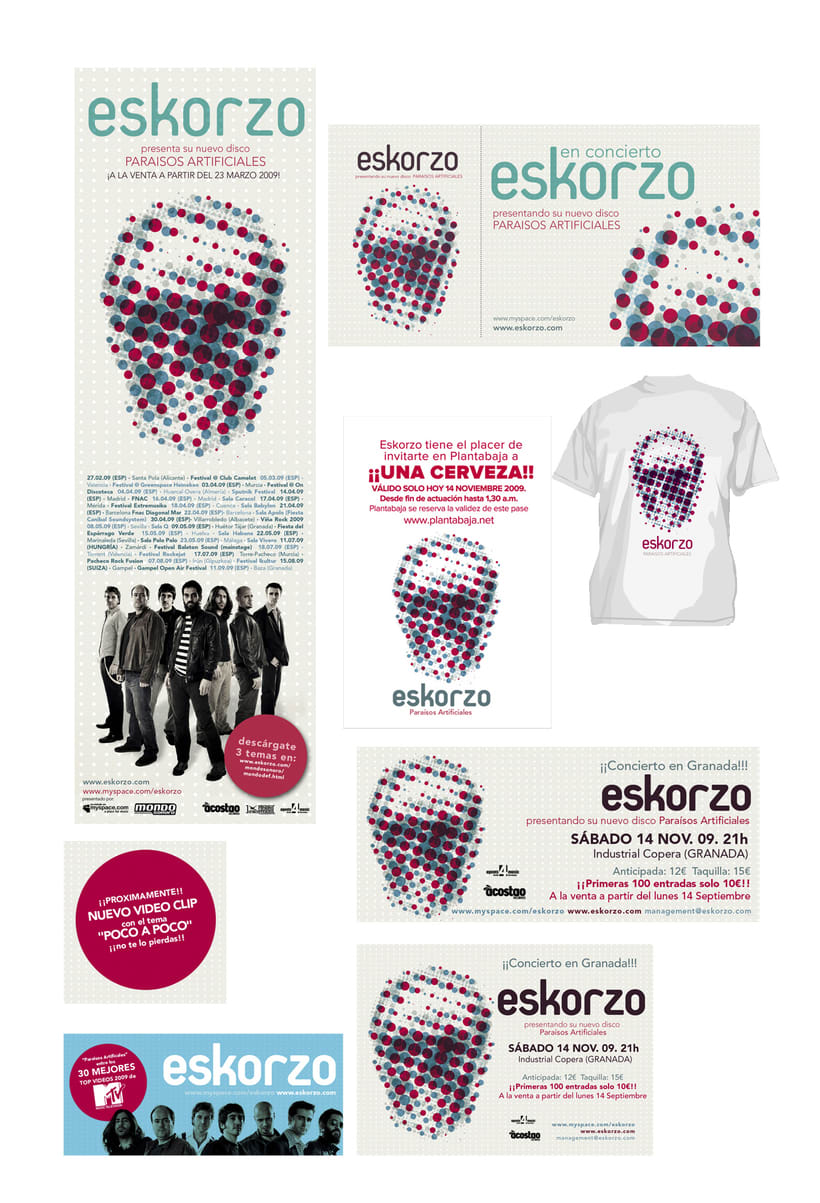 Eskorzo. Paraísos Artificiales. cd art work 1