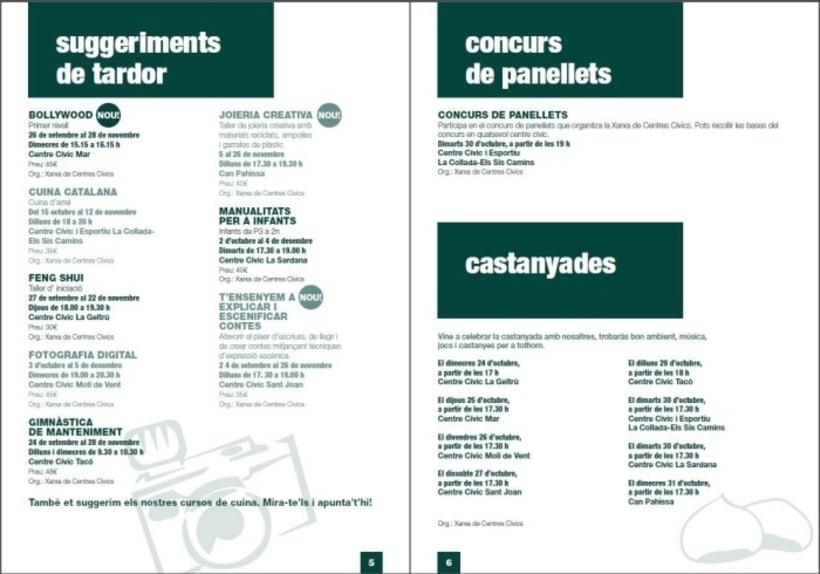 Diseño/ Maquetación libro centros cívicos Ajuntament Vilanova i la Geltrú 0