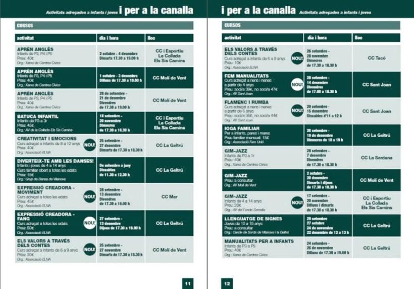 Diseño/ Maquetación libro centros cívicos Ajuntament Vilanova i la Geltrú 2