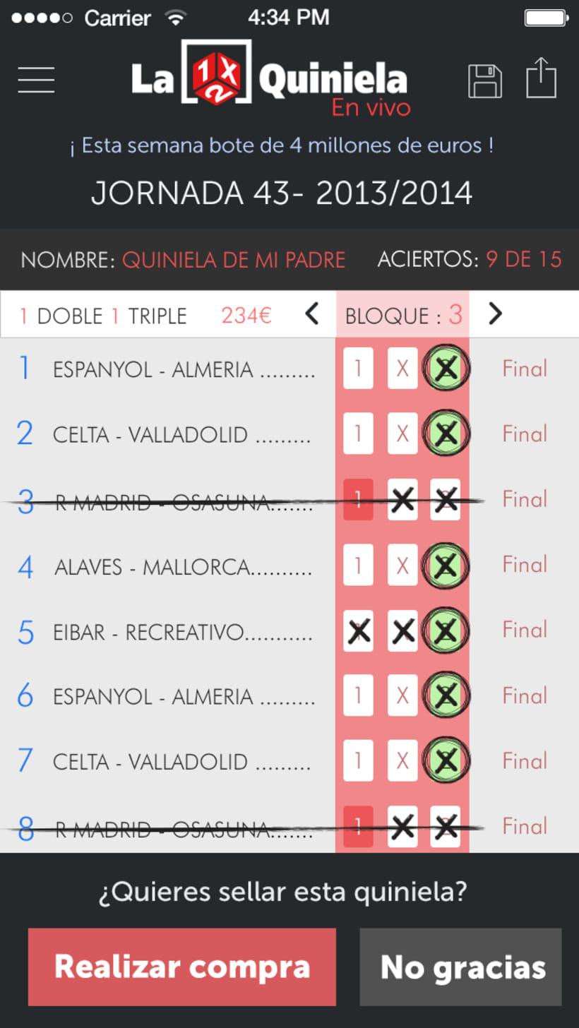 """Aplicación oficial """"La Quiniela"""" 0"""