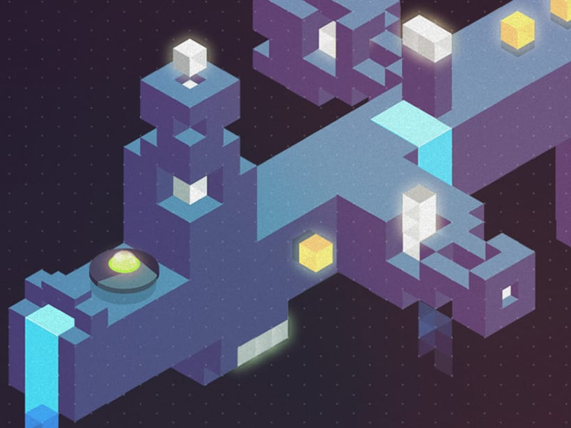 Concepto juego isométrico rotatorio -1