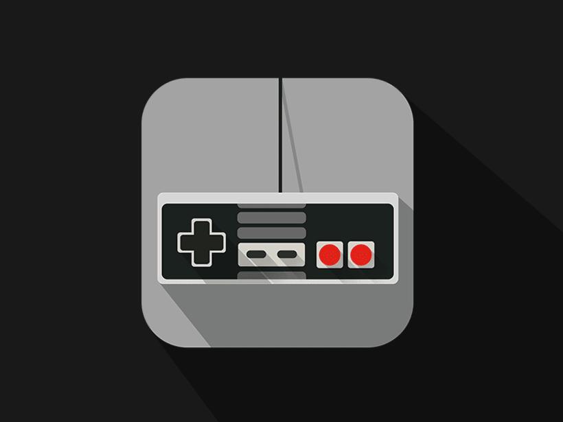 Nintendo controler, flat icon -1
