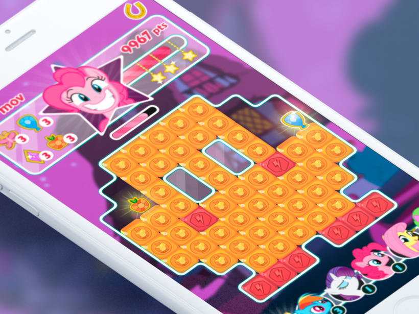 """My Little Pony: Puzzle Party. Interfaces alternativas del juego oficial -1"