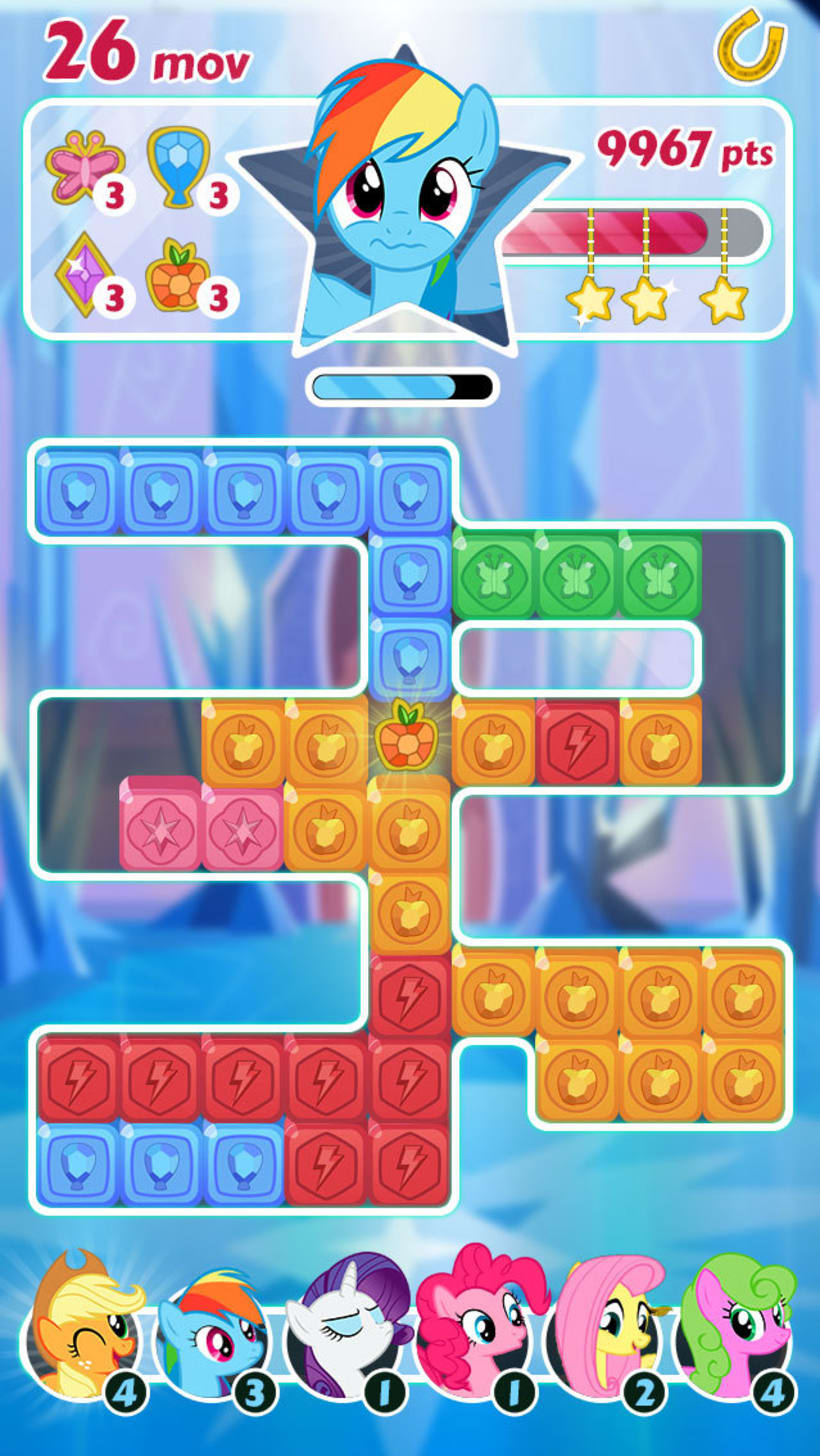"""My Little Pony: Puzzle Party. Interfaces alternativas del juego oficial 0"