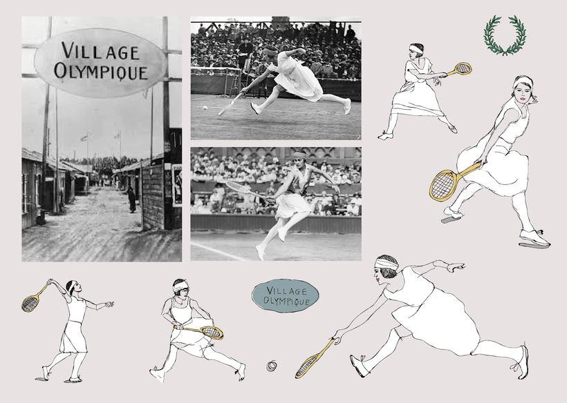 Diseño estampado textil pioneras del deporte femenino  0