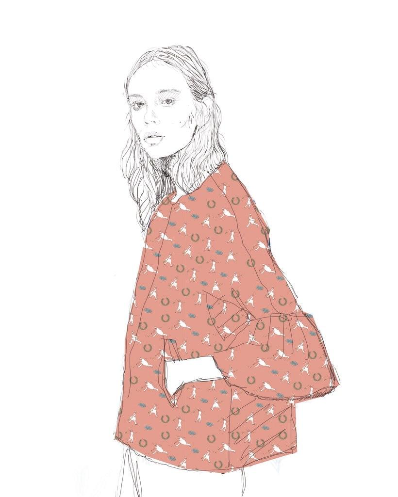 Diseño estampado textil pioneras del deporte femenino  6