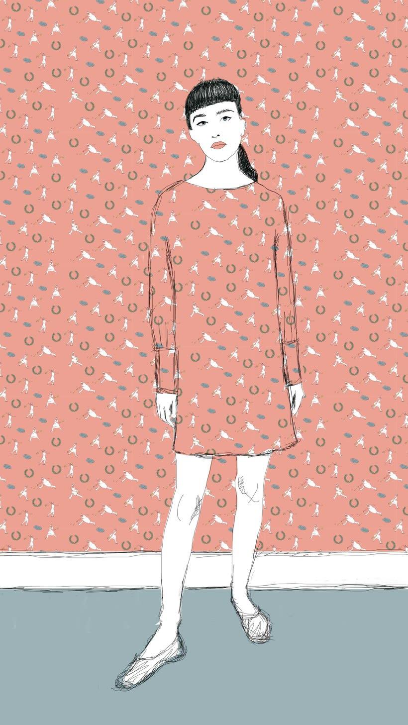 Diseño estampado textil pioneras del deporte femenino  8
