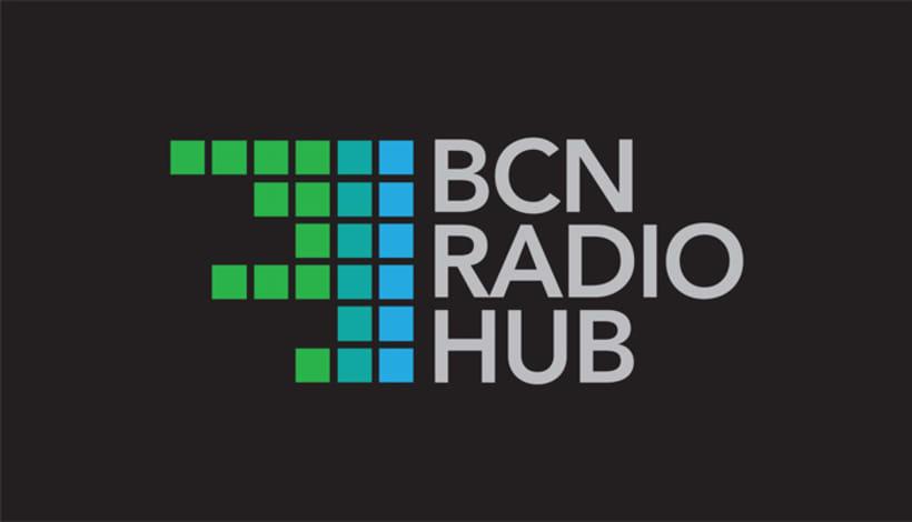 Diseño logotipo BCN RADIO HUB 0