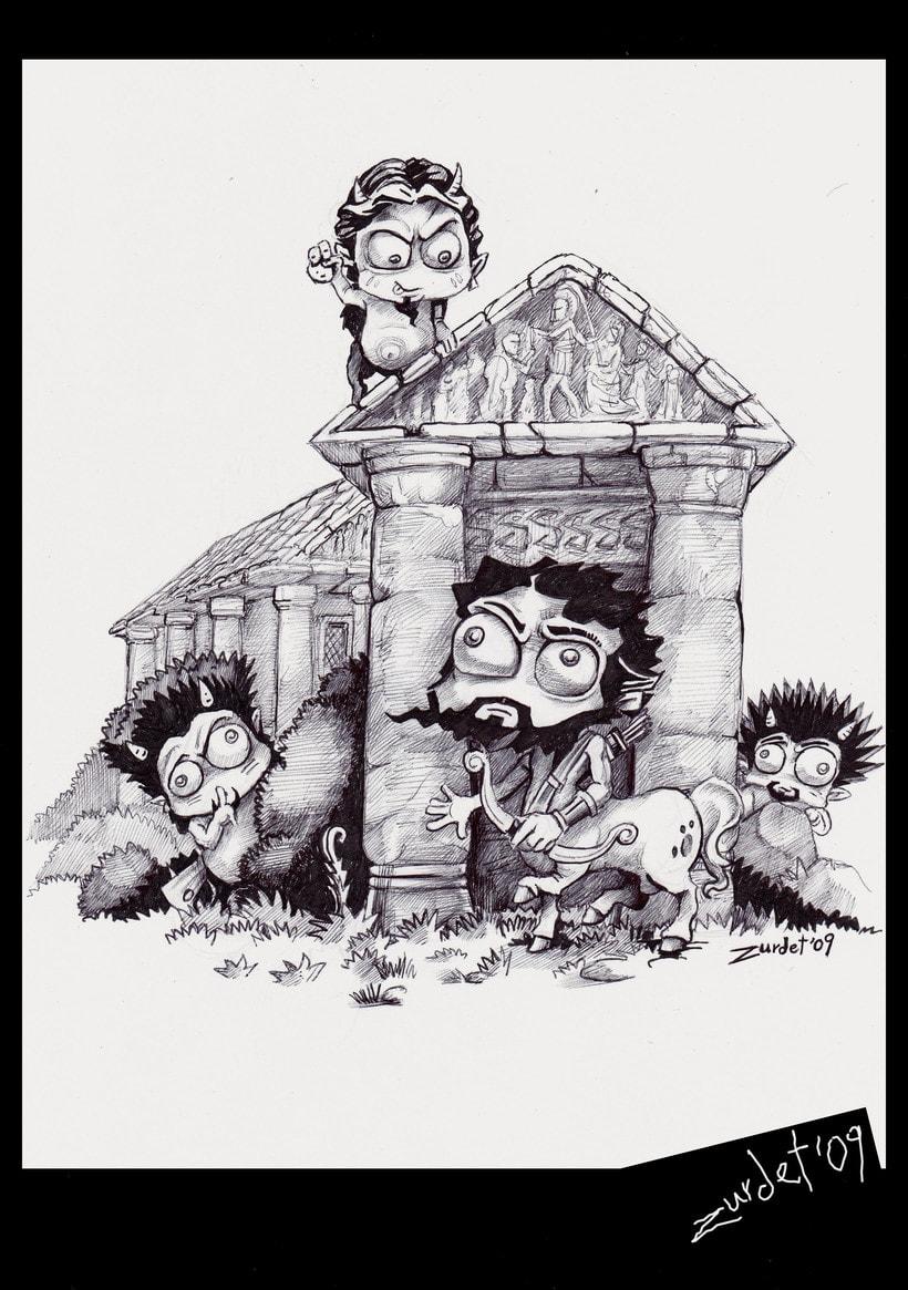 Mitology.. Uno de los proyectos más divertidos de mi vida....Mitología e Ilustración, no se puede pedir más. -1