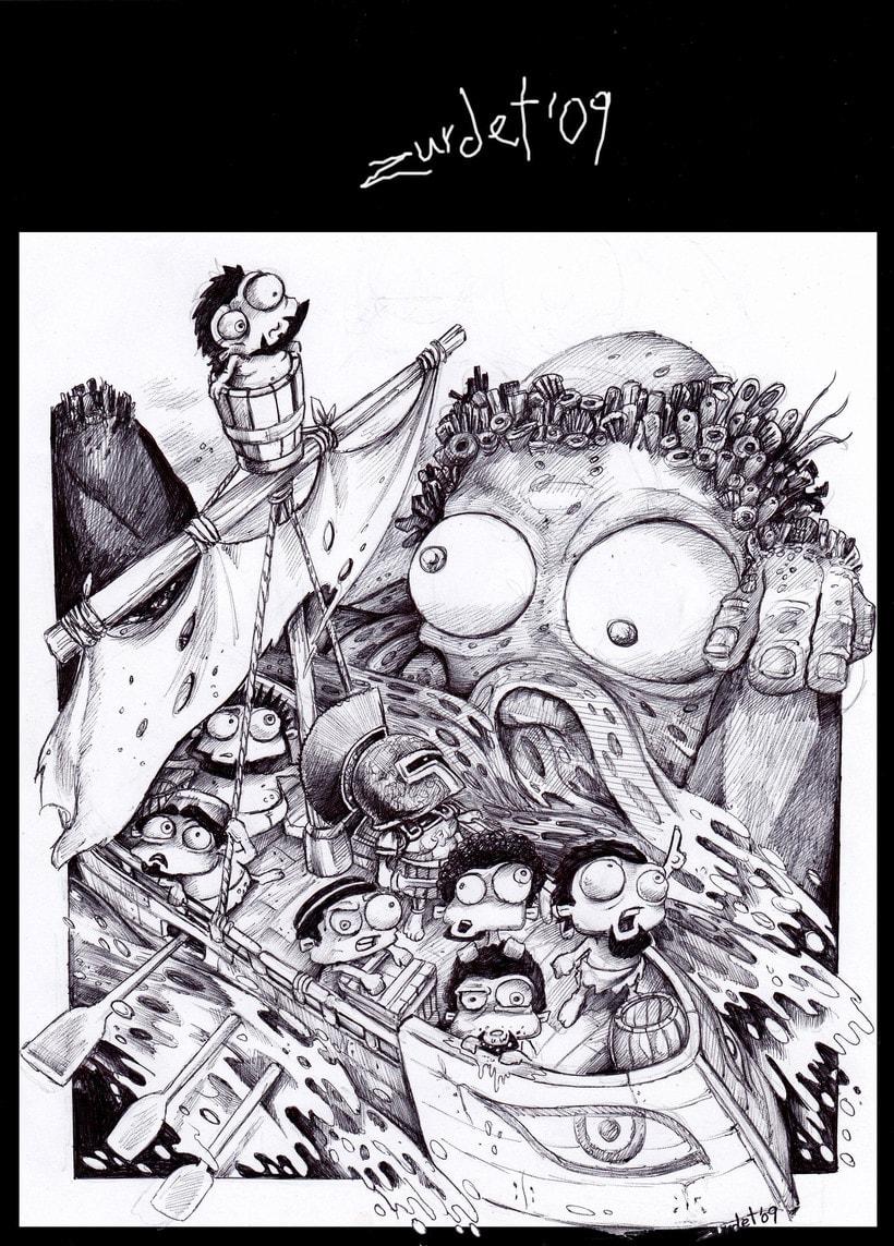 Mitology.. Uno de los proyectos más divertidos de mi vida....Mitología e Ilustración, no se puede pedir más. 1