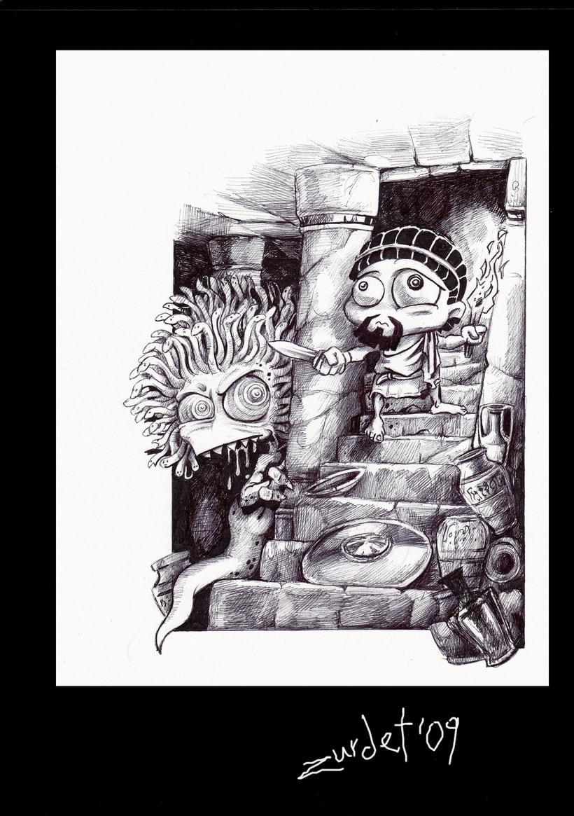 Mitology.. Uno de los proyectos más divertidos de mi vida....Mitología e Ilustración, no se puede pedir más. 2