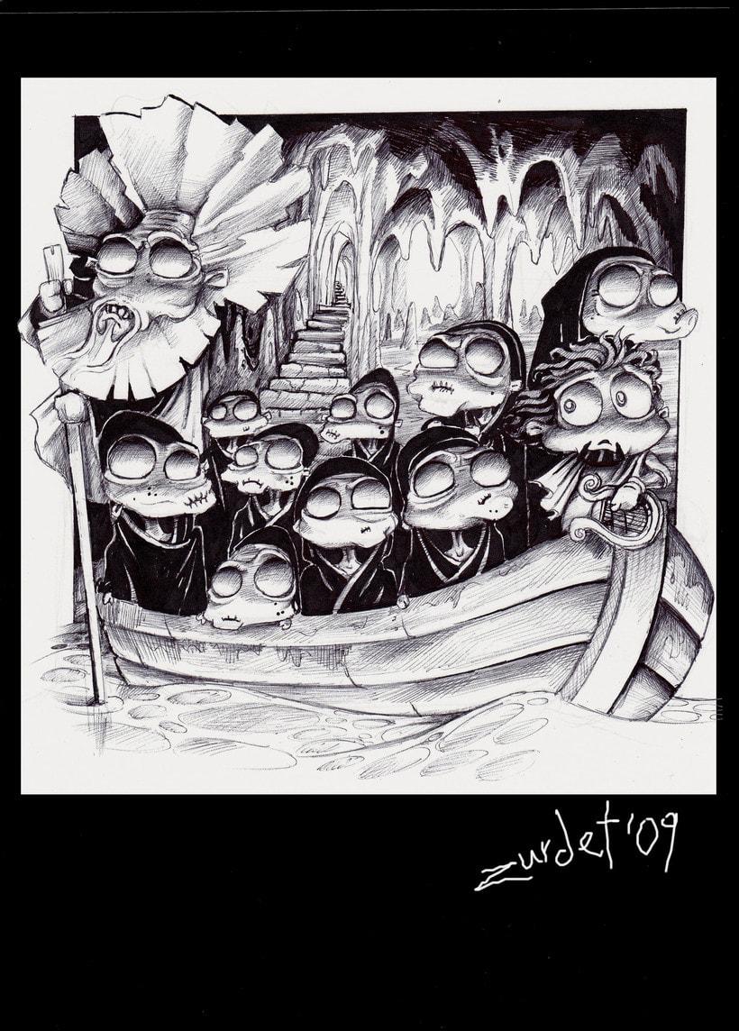Mitology.. Uno de los proyectos más divertidos de mi vida....Mitología e Ilustración, no se puede pedir más. 5
