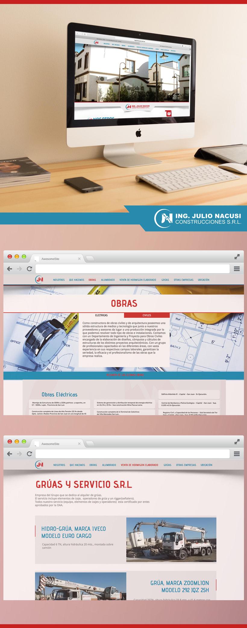 Re-Diseño web Ing. Julio Nacusi 0