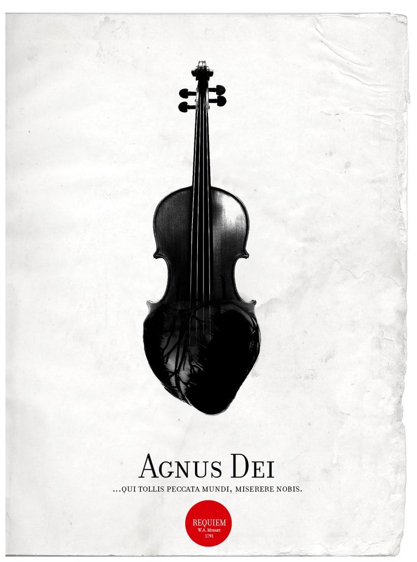Requiem Mozart. Poster (estudio y bocetos) 0