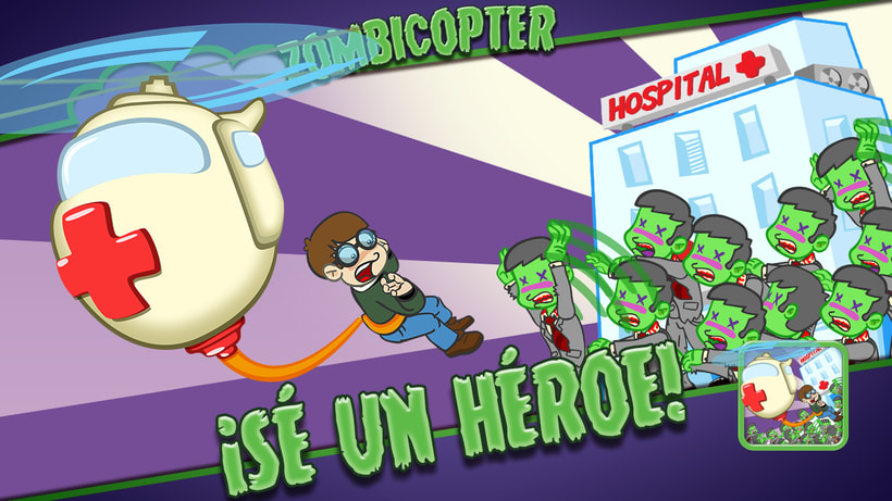 Zombicopter - Video game 1