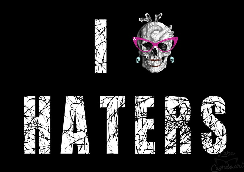 """I HEART haters "" :) Print  y camiseta  0"